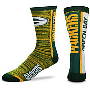 For Bare Feet Green Bay Packers Bar Stripe Crew Socks