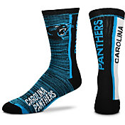 For Bare Feet Carolina Panthers Bar Stripe Crew Socks