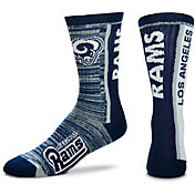 For Bare Feet Los Angeles Rams Bar Stripe Crew Socks