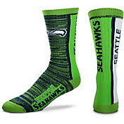 For Bare Feet Seattle Seahawks Bar Stripe Crew Socks