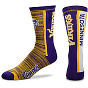 For Bare Feet Minnesota Vikings Bar Stripe Crew Socks