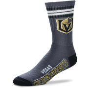 For Bare Feet Vegas Golden Knights 4-Stripe Deuce Crew Socks
