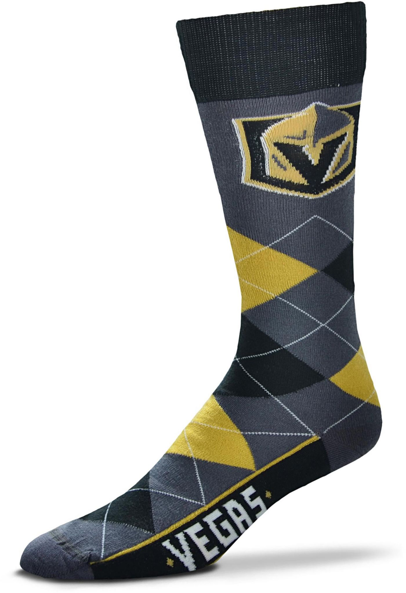 For Bare Feet Vegas Golden Knights Argyle Line Up Socks