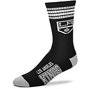 For Bare Feet Los Angeles Kings 4-Stripe Deuce Crew Socks