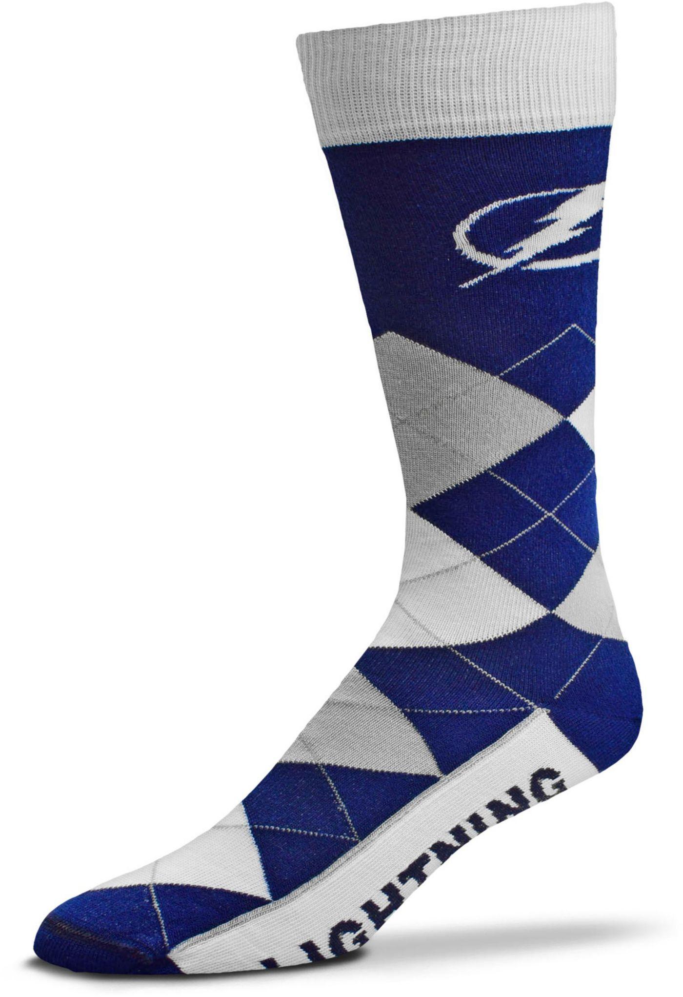 For Bare Feet Tampa Bay Lightning Argyle Line Up Socks