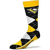 For Bare Feet Pittsburgh Penguins Argyle Line Up Socks