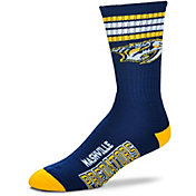 For Bare Feet Nashville Predators 4-Stripe Deuce Crew Socks