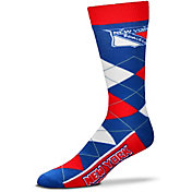 For Bare Feet New York Rangers Argyle Line Up Socks