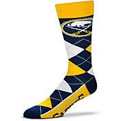 For Bare Feet Buffalo Sabres Argyle Line Up Socks
