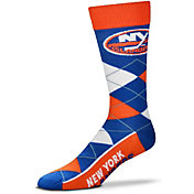 For Bare Feet New York Islanders 4-Stripe Deuce Crew Socks