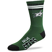 For Bare Feet Dallas Stars 4-Stripe Deuce Crew Socks