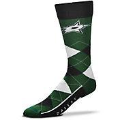For Bare Feet Dallas Stars Argyle Line Up Socks