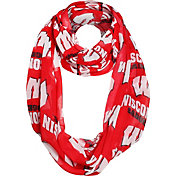FOCO Wisconsin Badgers Logo Infinity Scarf