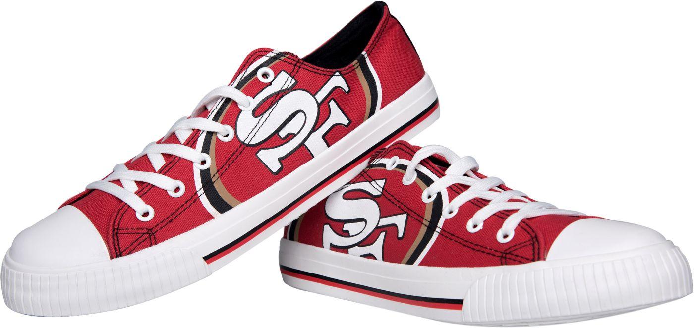 FOCO San Francisco 49ers Men's Canvas Sneakers