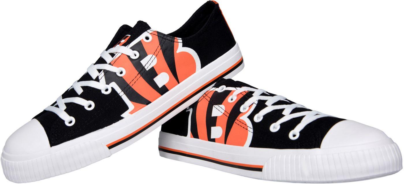 FOCO Cincinnati Bengals Men's Canvas Sneakers
