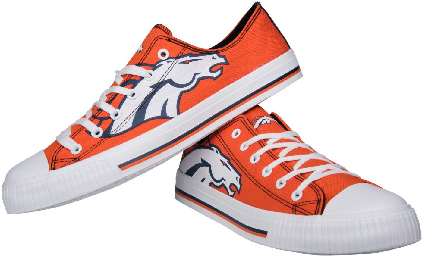 FOCO Denver Broncos Men's Canvas Sneakers
