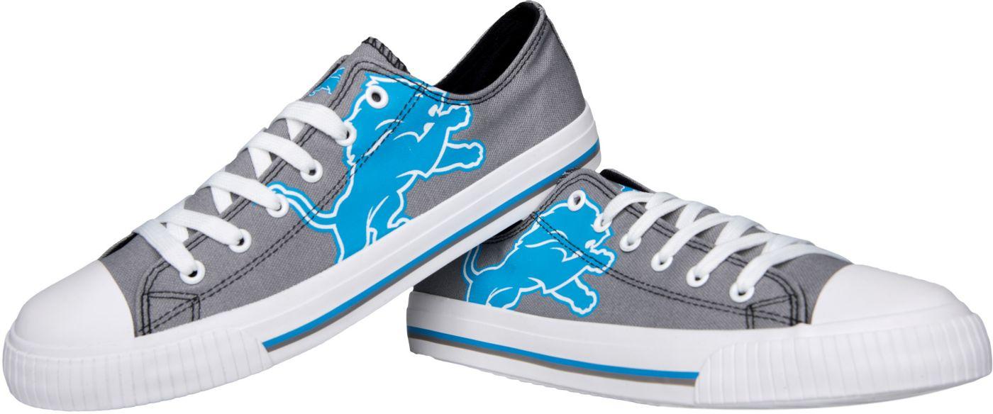 FOCO Detroit Lions Men's Canvas Sneakers