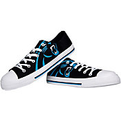 FOCO Carolina Panthers Men's Canvas Sneakers