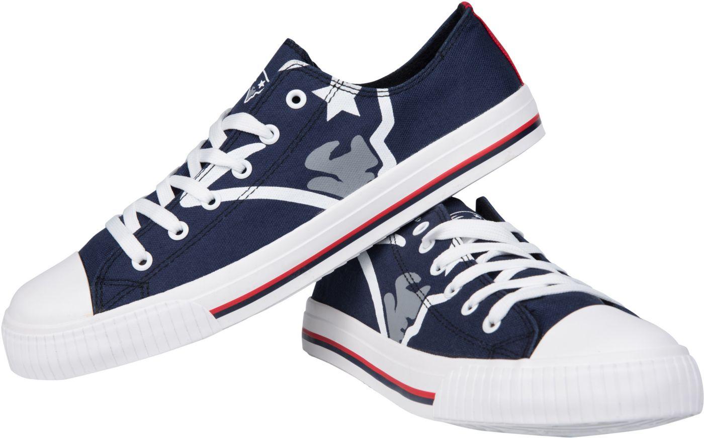 FOCO New England Patriots Canvas Sneakers