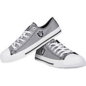 FOCO Oakland Raiders Canvas Sneakers
