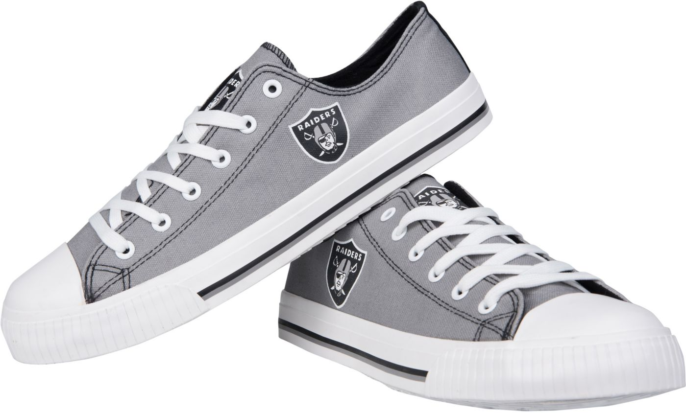 FOCO Oakland Raiders Canvas Sneakers