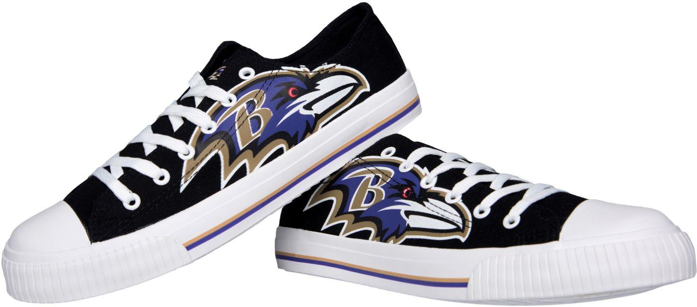 FOCO Baltimore Ravens Men's Canvas Sneakers