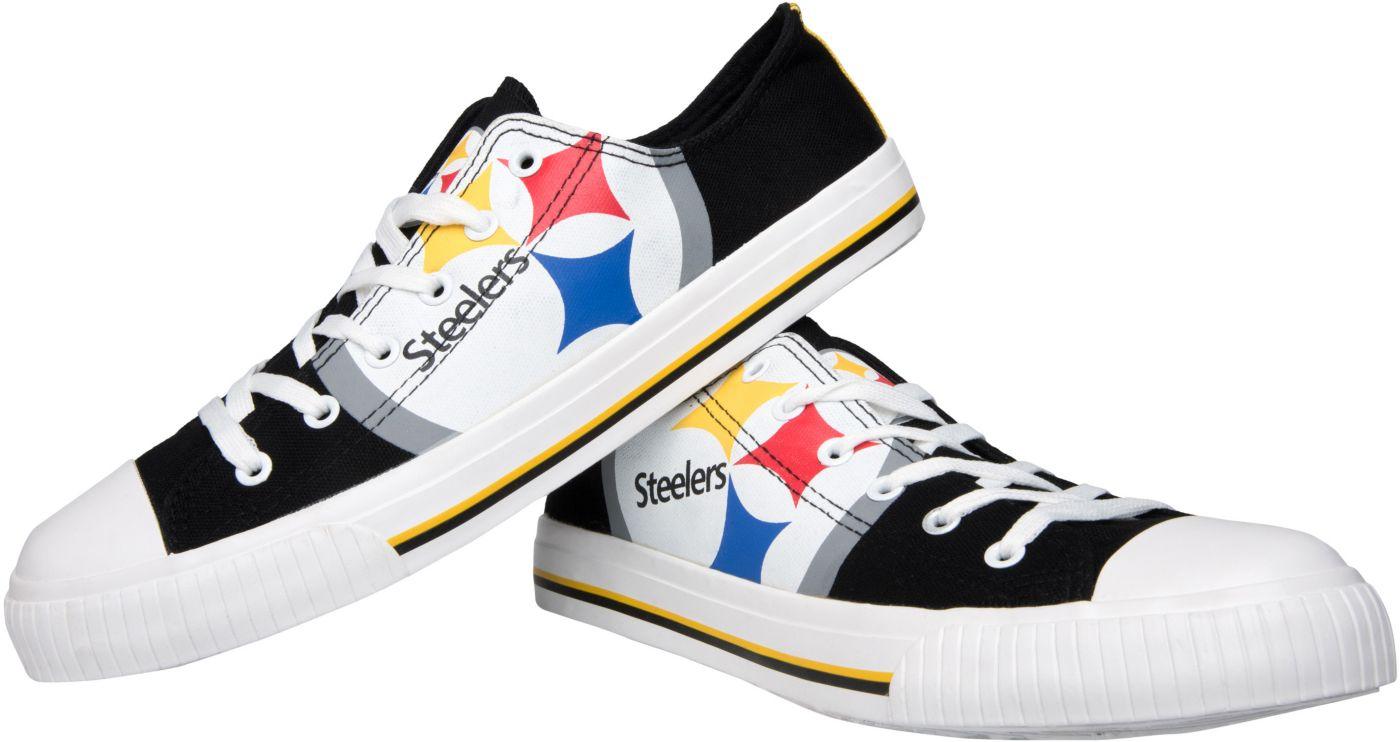 FOCO Pittsburgh Steelers Canvas Sneakers