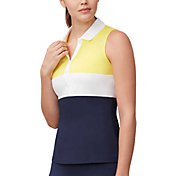 Fila Women's Argyle Sleeveless Tennis Polo