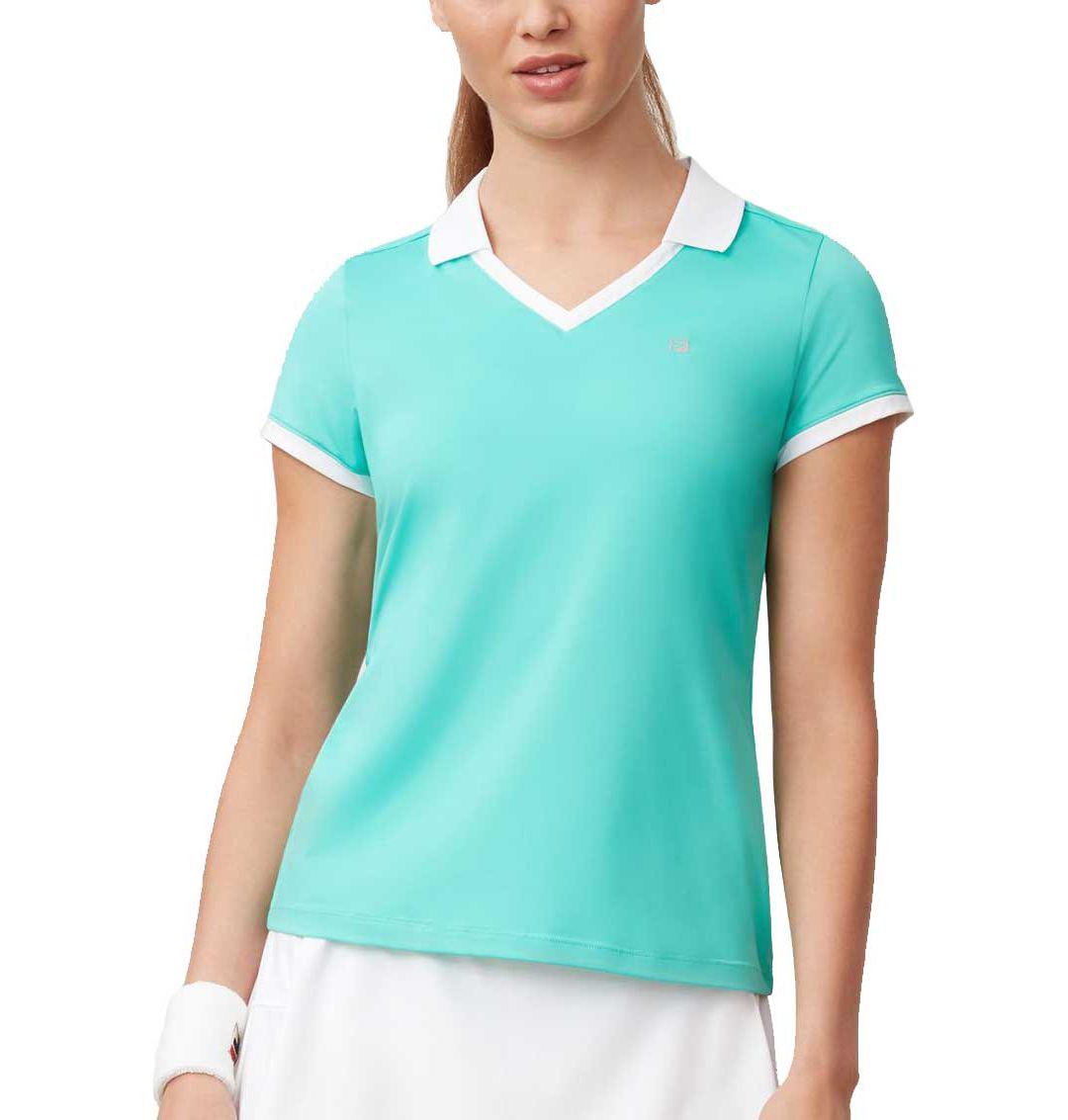 reputable site 1732f 7ee09 Fila Women's Windowpane V-Neck Tennis Shirt
