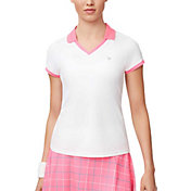 Fila Women's Windowpane V-Neck Tennis Shirt