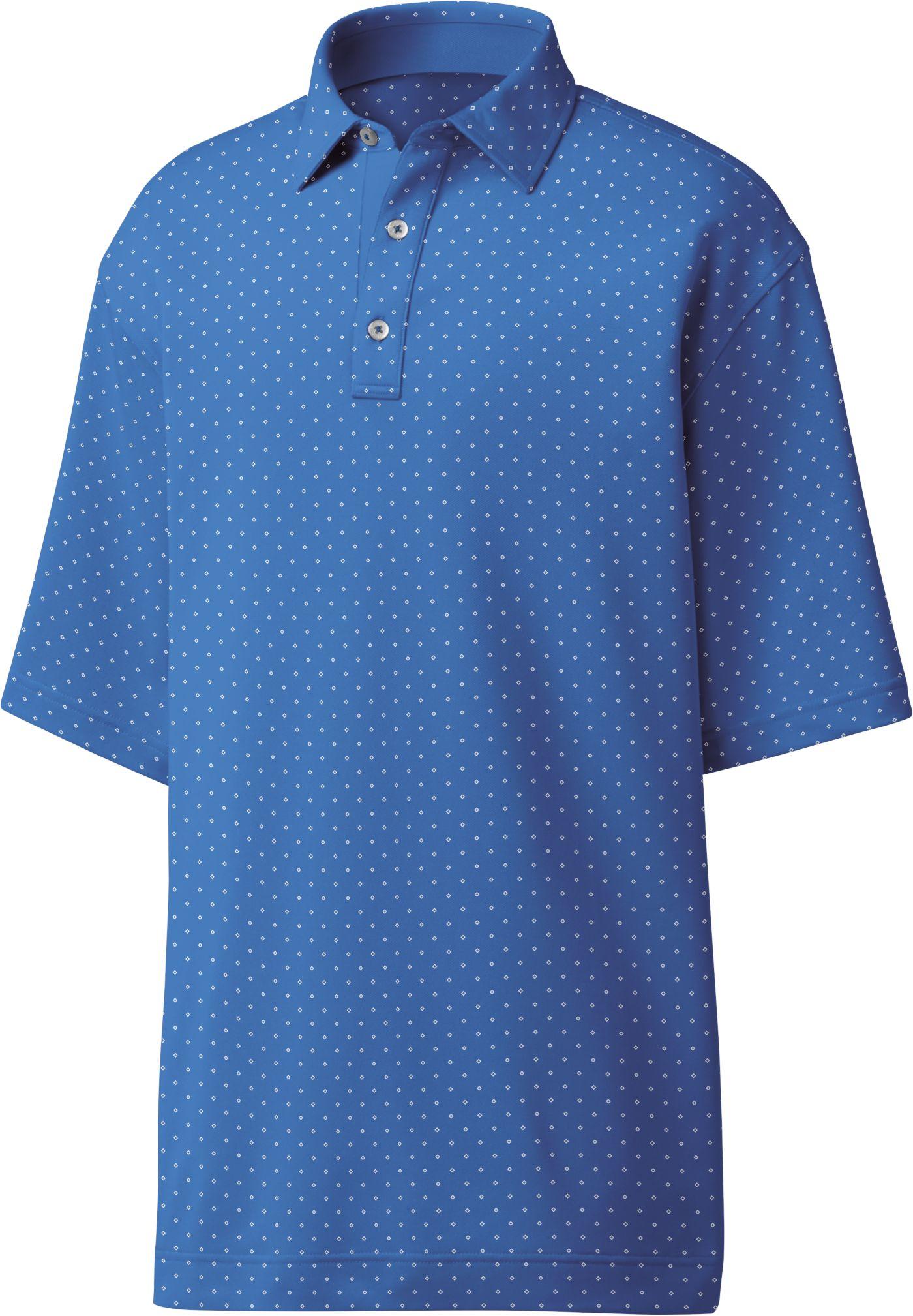 FootJoy Men's Lisle Diamond Print Golf Polo