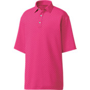 FootJoy Men's Lisle Diamond Print Golf Polo