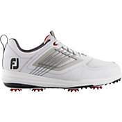 FootJoy Men's Fury Golf Shoes in White/Red