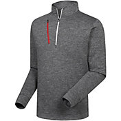 FootJoy Men's Heather Pinstripe ½ Zip Golf Pullover