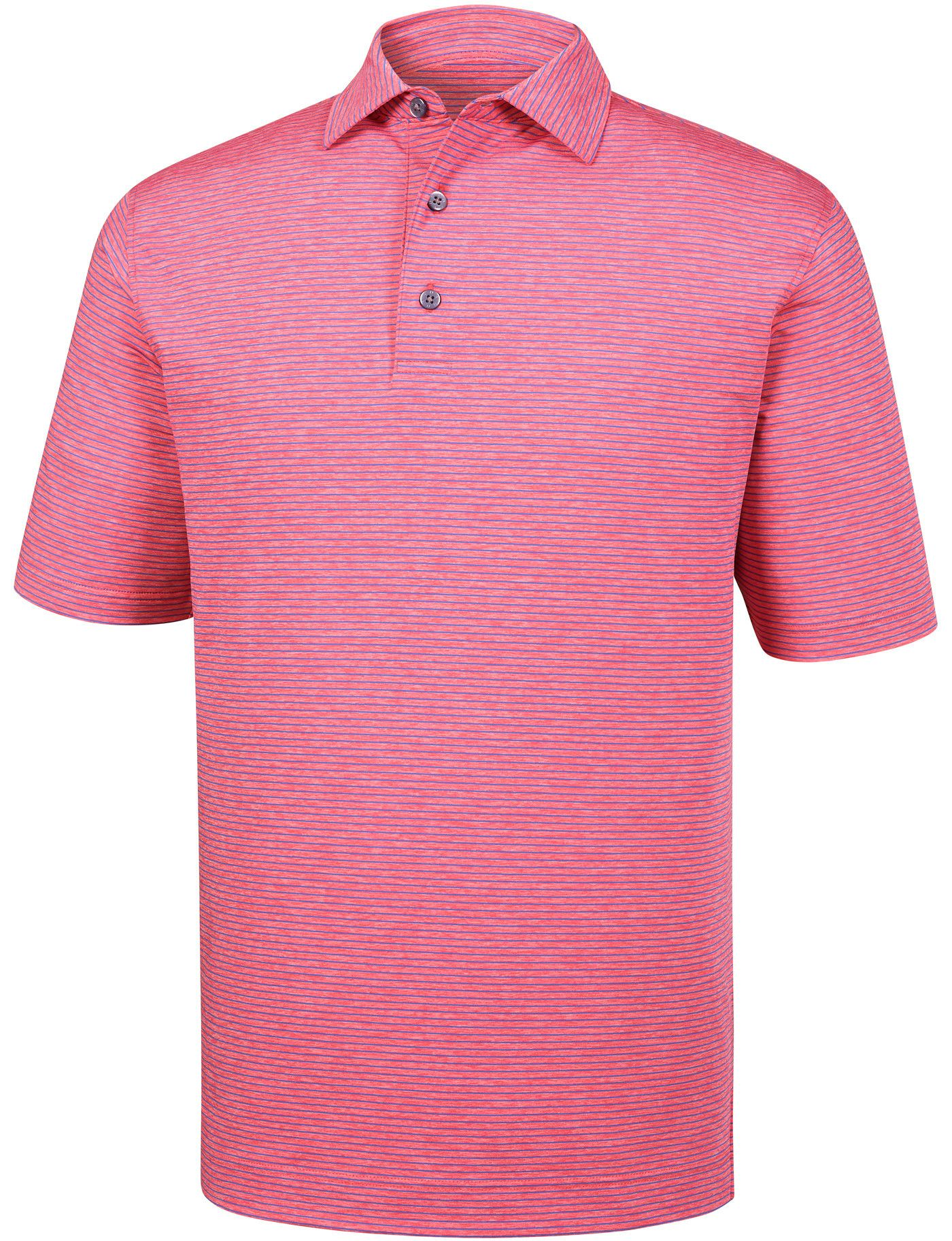 FootJoy Men's Heather Pinstripe Lisle Golf Polo