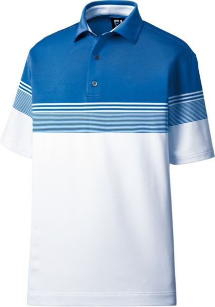 FootJoy Men's Lisle Gradient Color Block Golf Polo