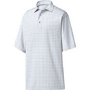 FootJoy Men's Lisle Grid Print Golf Polo