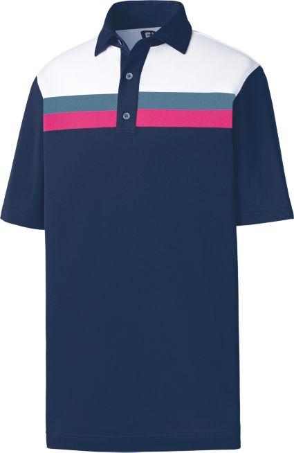 FootJoy Men's Pique Color Block Golf Polo