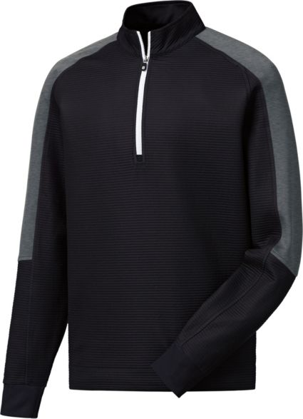 FootJoy Men's Ribbed Mid-Layer Golf ¼ Zip