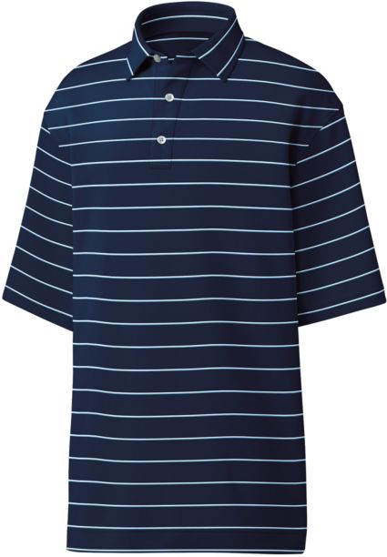 FootJoy Men's Spun Poly Stripe Golf Polo