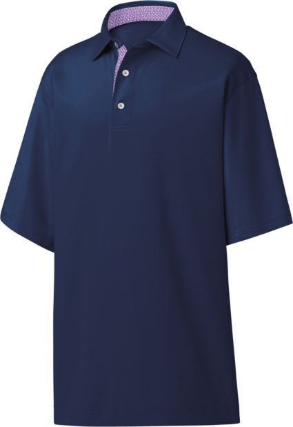 FootJoy Men's Stretch Pique Paisley Trim Golf Polo