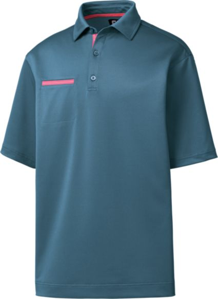 FootJoy Men's Stretch Pique Chest Pocket Golf Polo