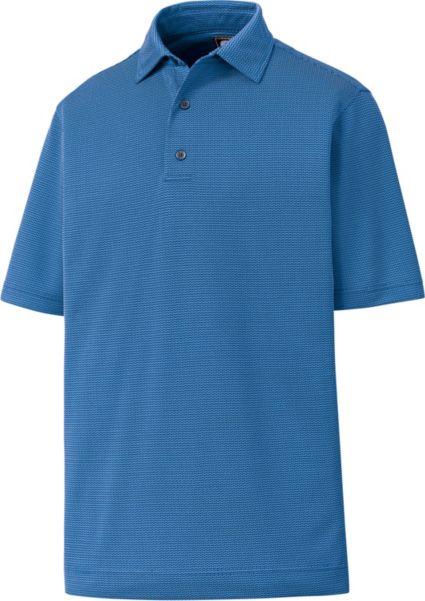 FootJoy Men's Zig Zag Jacquard Golf Polo
