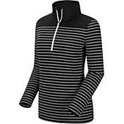 FootJoy Women's Half-Zip Stripe and Solid Yoke Golf Pullover