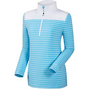 FootJoy Women's Half-Zip Stripe and Solid Yoke Golf Pullover