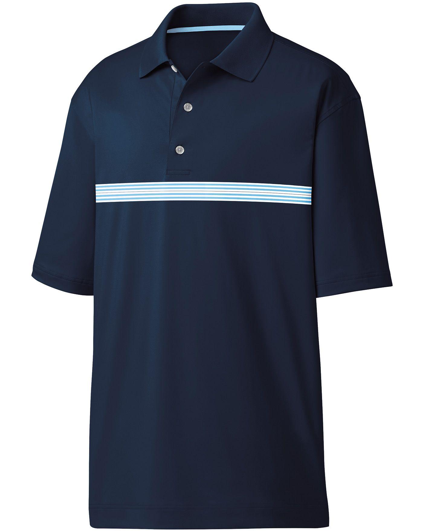 FootJoy Men's Lisle Multi Stripe Chestband Golf Polo