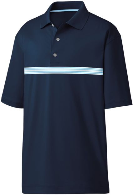 FootJoy Men's Lisle Multi Stripe Chestband Golf Polo
