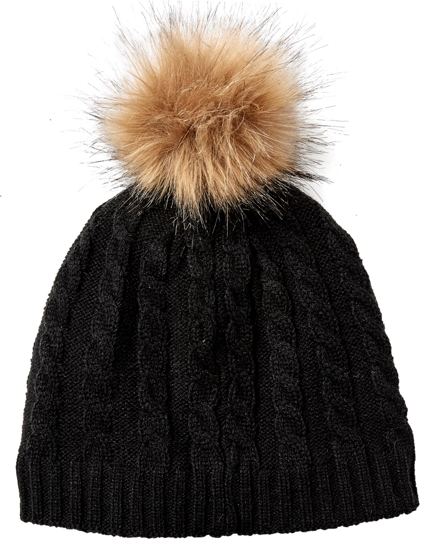 Field & Stream Women's Cabin Cable Fur Pom Beanie