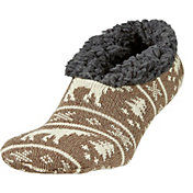 Field & Stream Men's Cabin Moose Stripe Slipper Socks