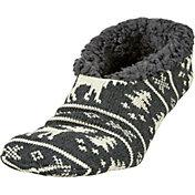 Field & Stream Men's Cabin Moose Stripe Slippers